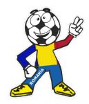 Novelty FOOTBALL HEAD MAN With Romania Romanian Flag Motif For Football Soccer Team Supporter Vinyl Car Sticker 100x85mm